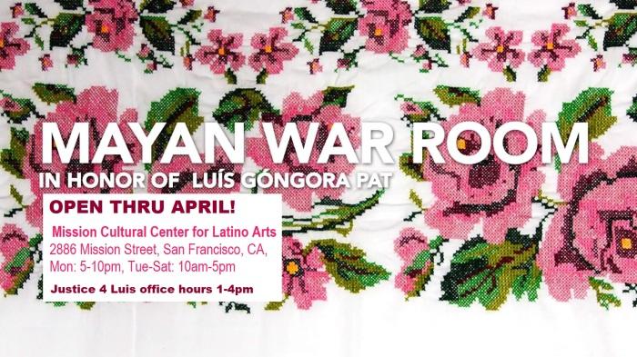 MayanWarRoom banner with hours